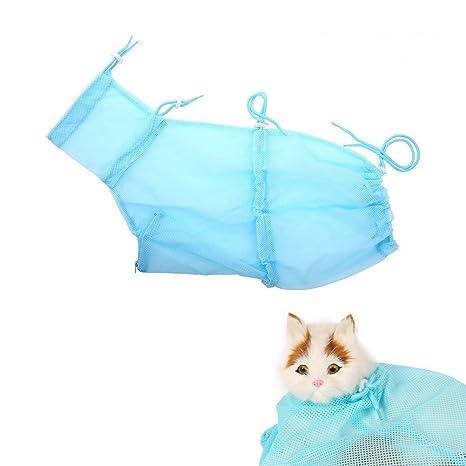 Qunlei Bolsa de aseo para gatos, de poliéster, malla suave, resistente a los