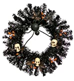 Cypress Home Halloween Skull 24-inch Wreath