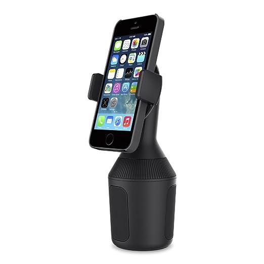 Belkin Support de voiture pour porte-gobelet compatible iPhone XS, iPhone XS Max, iPhone XR, iPhone X, iPhone 8 / 8 Plus, appareils Samsung, LG, sony, Google, etc.