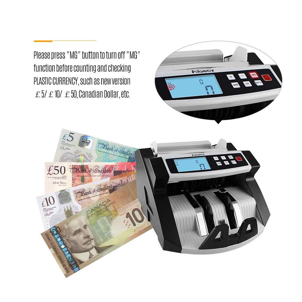 Aibecy Contadores de Billetes Detector Automático para Multi Moneda Efectivo Billete de Banco Dinero Cuenta Mostrador LCD Monitor: Amazon.es: Bricolaje y ...