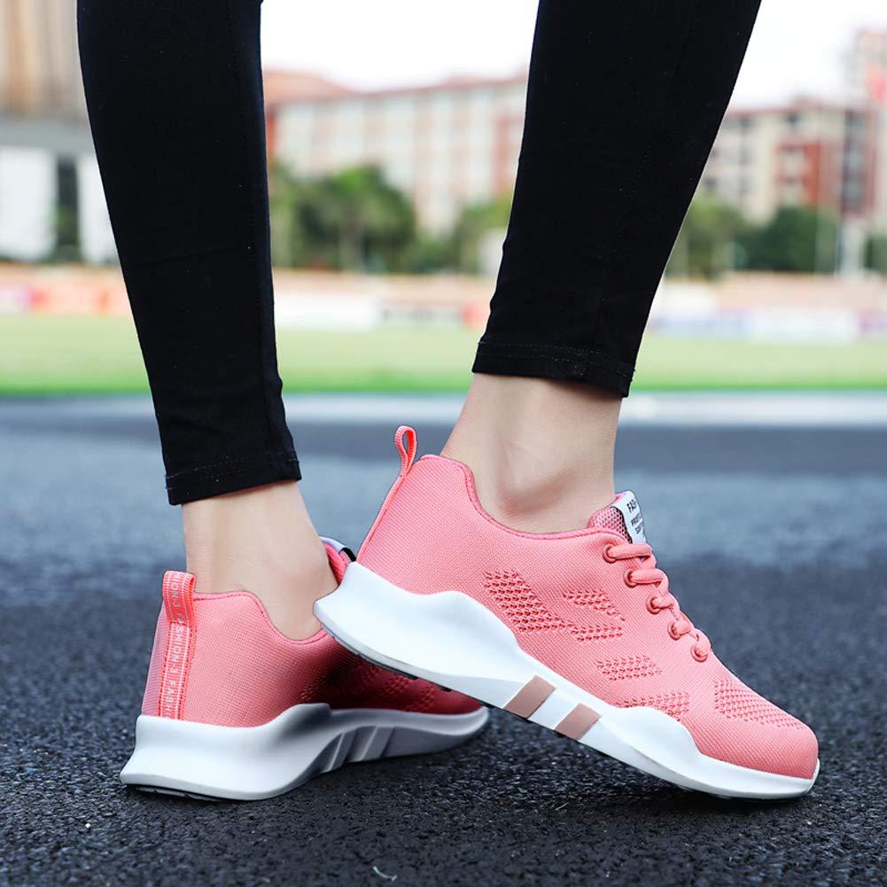 KUIBU Women Lightweight Sport Breathable Slip-On Platform Toning Shoes Mesh High Heel Sneaker Athletic