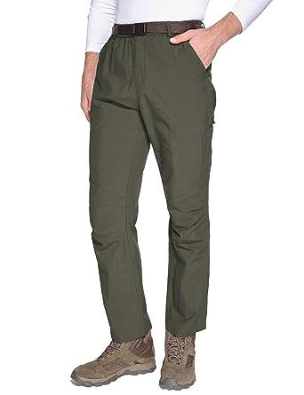 e98a50d6c5 Baleaf Men's Water-Resistant Hiking Pants Outdoor Ridge Cargo Pants Green S