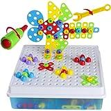 Puzzles 3D 4 en 1 Jouets de bricolage Ensemble de construction Blocs de construction Assemblée Jouets, 189 Pcs
