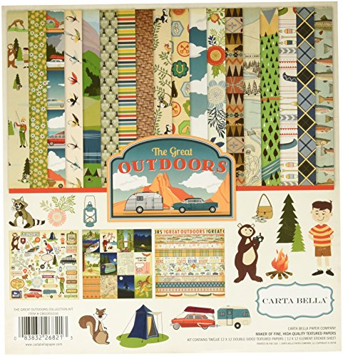 Carta Bella Paper Company CBGO55016 The Great Outdoors Collection Kit (Outdoor Paper)