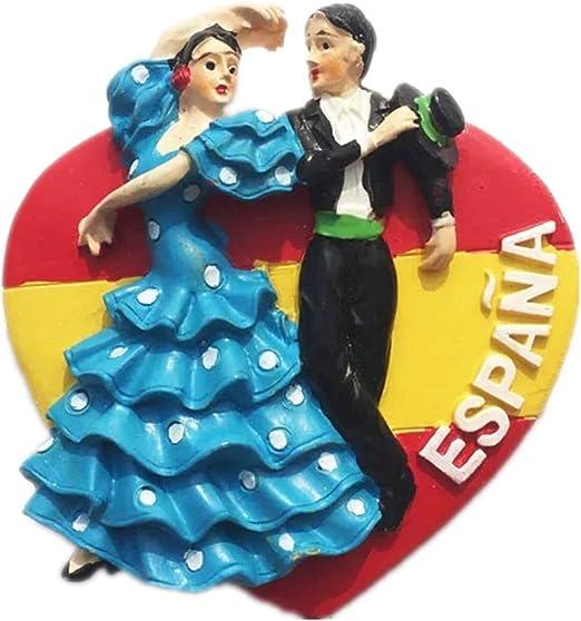 Weekino Souvenir Flamenco Dancing Spain Imán de Nevera de Resina ...