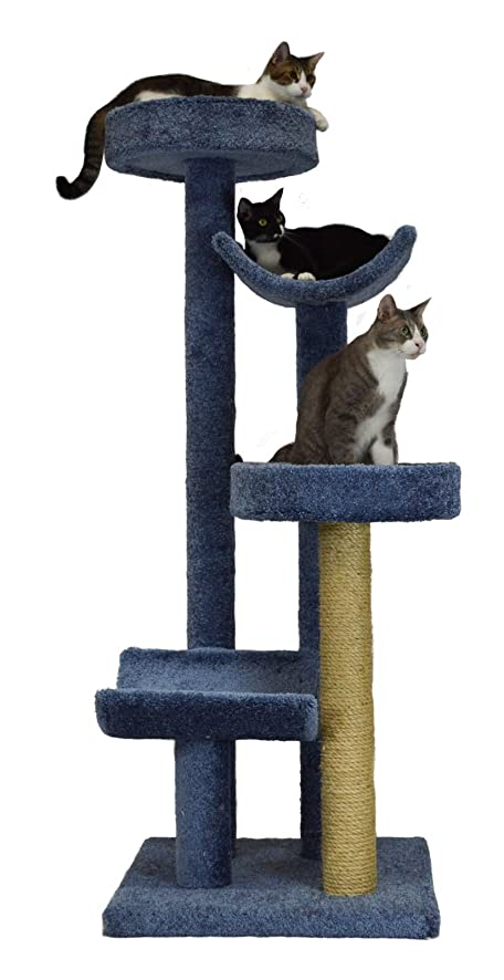 Marvelous Molly And Friends MF 61 Blue Four Tier Scratching Post Furniture, Colors