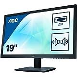 AOC E975SWDA Ecran PC LED 18,5'' Noir 1920x1080 VGA/DVI