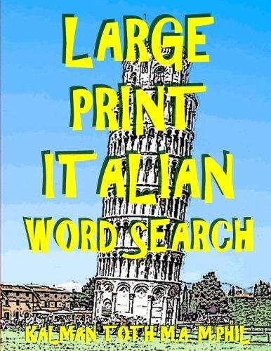 (Large Print Italian Word Search)