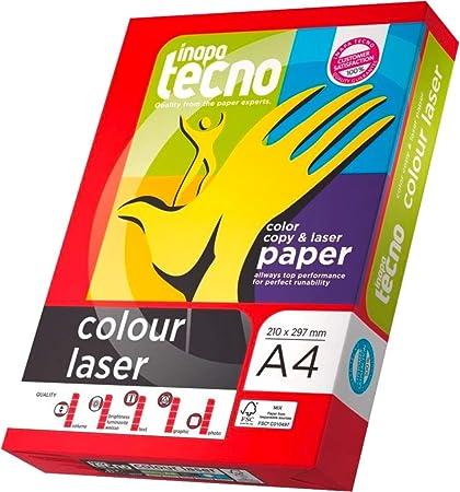 Inapa Tecno - Papel para impresora láser a color, A4, 90 g/m2 ...