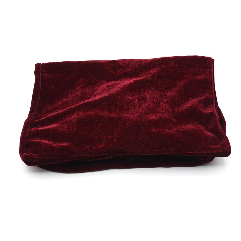 Piano Seat Cover, Lace Decorated Thickened Gold Velvet Piano Single Seat Bench Dust Proof Cover 21.7 * 13.8 inch(Red) Dilwe Dilweg2cz8bo7h3-02