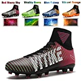 big data shoes - WETIKE Soccer Cleats for Kids Football Boots with High Ankle Sock Athletic Running Soccer Shoes Performance Shock Buffer Foot Care (Little Kid/Big Kid)