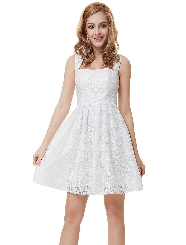 Ever-Pretty Damen Fashion kurz weiß Lacy Cocktail Party Kleid 05255 ...