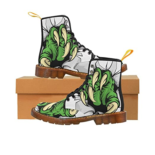 Shoes Green Monster Claw Lace Up Martin Boots For Men
