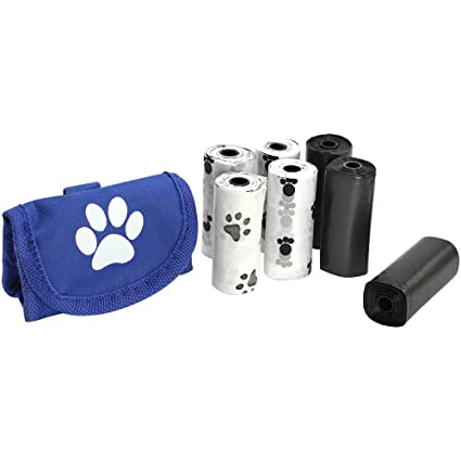 COM de Four® 102 hundekot Bolsa con un dispensador de bolsas, en varios colores