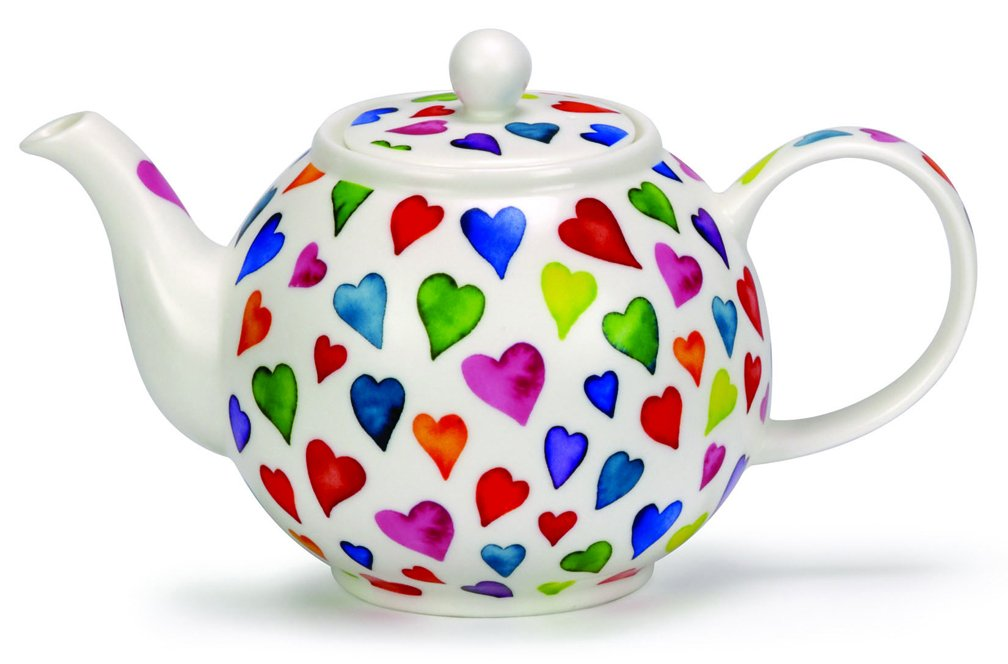 Dunoon Warm Hearts Large Teapot (40.6 Oz.)