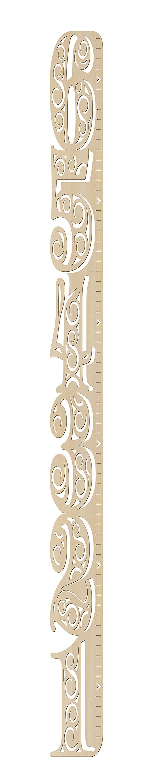 DIY Wooden Swirls Growth Chart