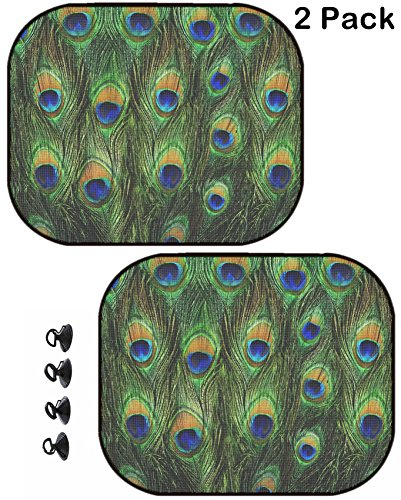 MSD Car Sun Shade Protector Side Window Block Damaging UV Rays Sunlight Heat for All Vehicles, 2 Pack Image ID: 29791417 Close up of a Male Peacock displaying its Stunning Tail Feathers (Peacock Feathers Displaying)