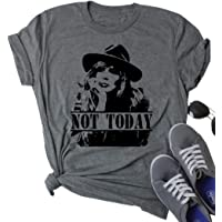 Not Today Beth Dutton Graphic T-Shirt Women Funny Yellowstone Shirt Letter Print Casual Fall Tee Tops