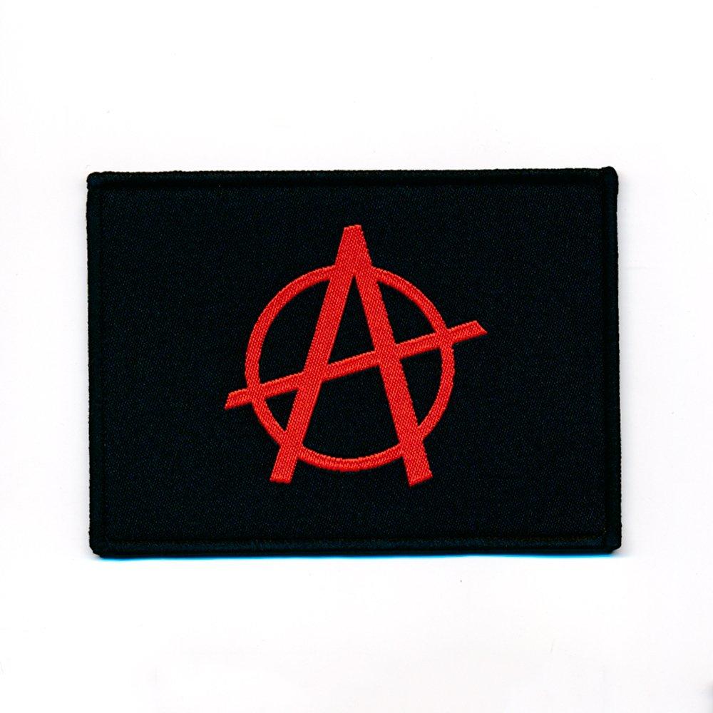 É cusson thermocollant - Avec emblè me de l'anarchie - 90 x 65 mm - 0857 X Import / Hegerring