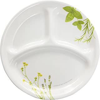 "product image for Corelle Livingware European Herbs Dinnerware Family Style 10.25"" Divided Plate (Set of 4)"