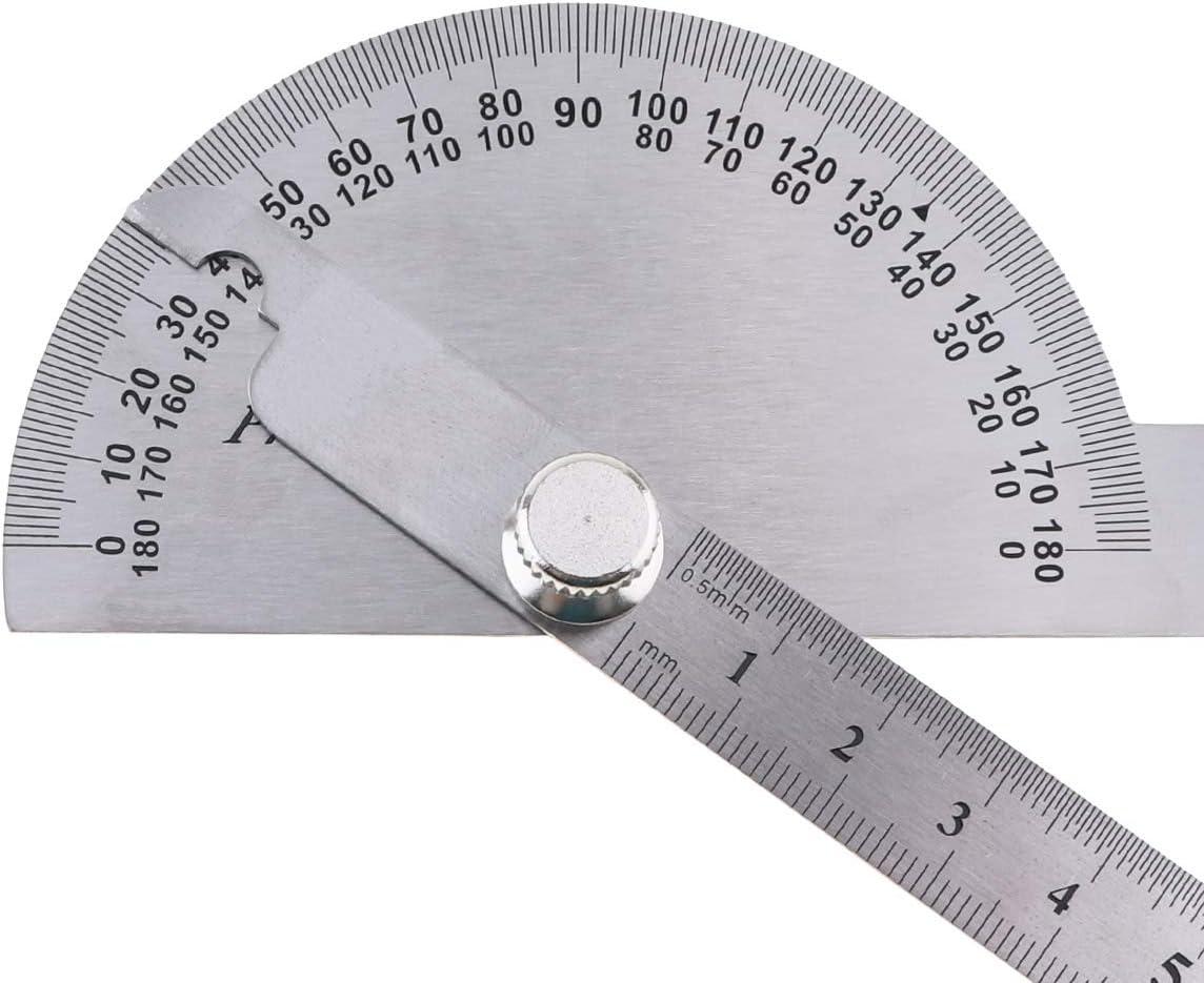 OriGlam Rapporteur dangle 0 180 /° en acier inoxydable avec deux bras