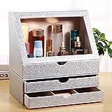 Arolly Glitter Makeup Organizer for Women/Girls, Cosmetic Storage Case/Box [Silver] COS-GLT-01-SL/COS-GLT-01/02-S