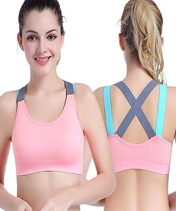 OUNA - Sujetador Deportivo - para Mujer Rosa L: Amazon.es: Ropa y ...