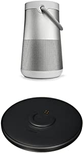 Bose SoundLink Revolve+ Portable & Long-Lasting Bluetooth 360 Speaker, Lux Gray + Charging Cradle