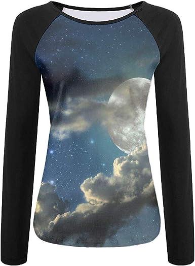 TO-JP 3D Print Spider Web Glow in The Dark Long Sleeve Shirt Womens Athletic Baseball Shirt