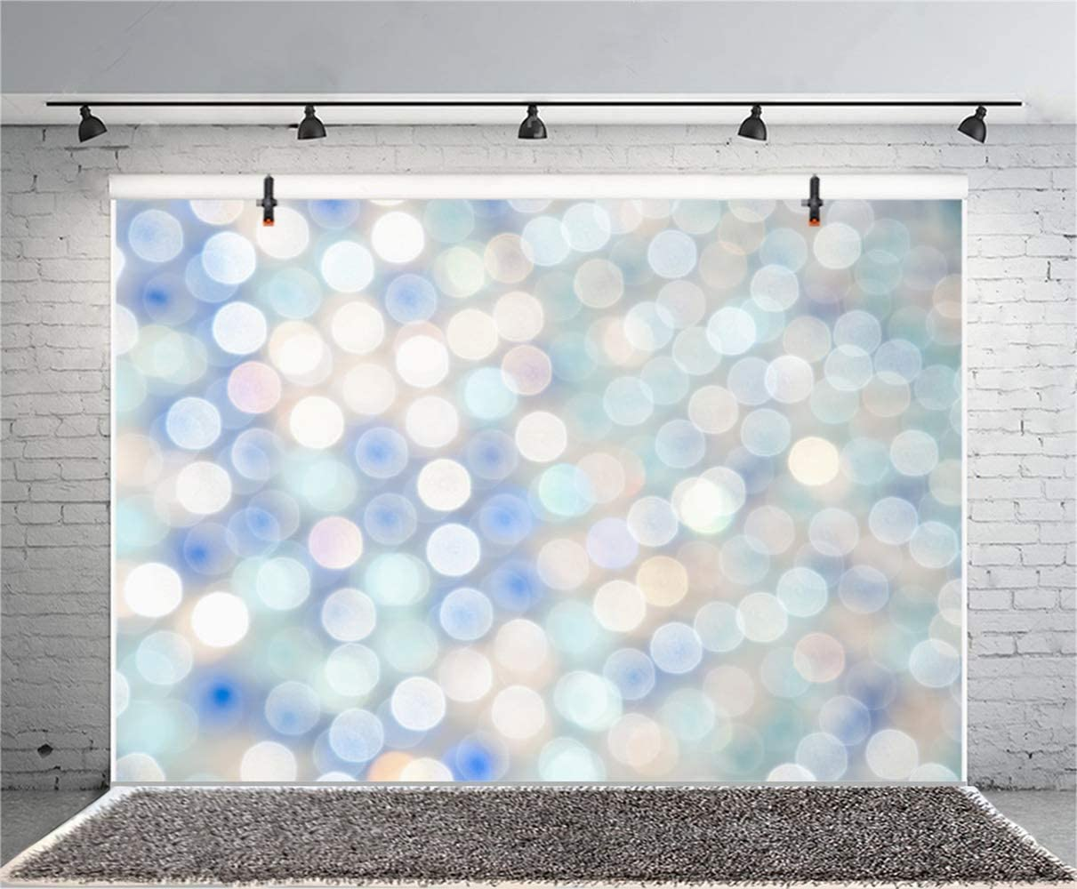 8x6.5ft Abstract Dizzy Colorful Bokeh Haloes Backdrop Polyester New Year Birthday Photography Background Child Kids Baby Girl Adult Portrait Shoot Studio Props Wallpaper