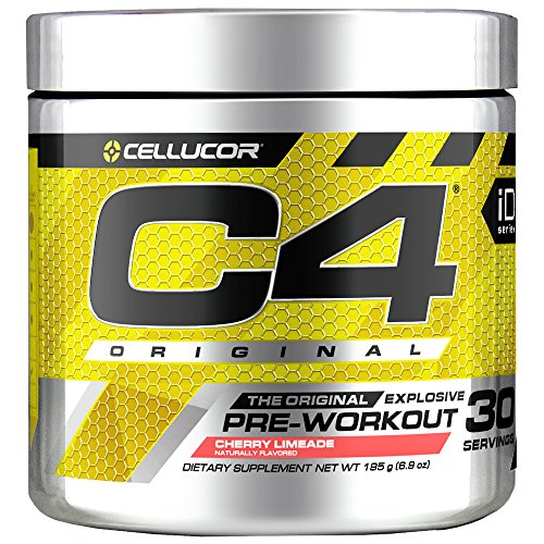 Cellucor C4 Original Pre Workout Powder Energy Drink Supplement For Men & Women with Creatine, Caffeine, Nitric Oxide Booster, Citrulline & Beta Alanine, Cherry Limeade, 30 Servings