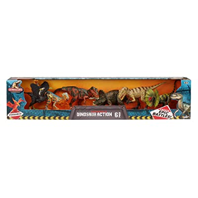 Kid Galaxy Dinosaurs Poseable 6 Pack Set: Toys & Games