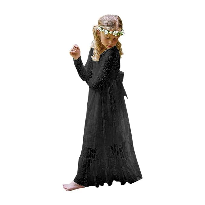 Amazon.com: Fancy - Vestido de encaje para niña, diseño de ...