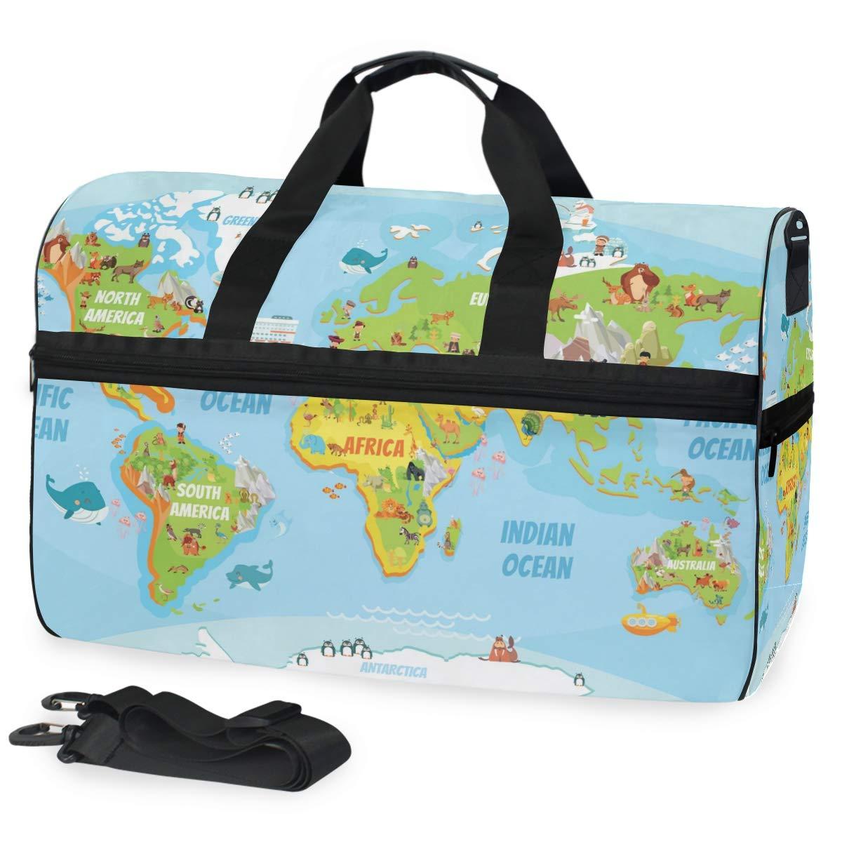 Travel Duffels Cute Koala Duffle Bag Luggage Sports Gym for Women /& Men