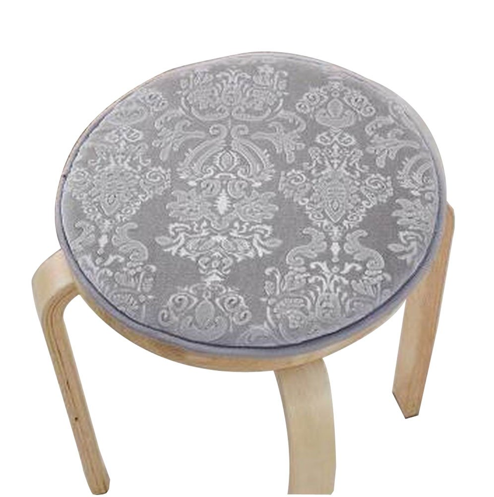 Black Temptation [Gray] Velvet Round Stool Cover Stool Cushion Bar Stool Mat Seat Pad