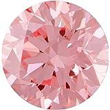 1.14 Ct. | Round | Bubble Gum Pink Color | VS2 Clarity | U.S. Man Made Diamond