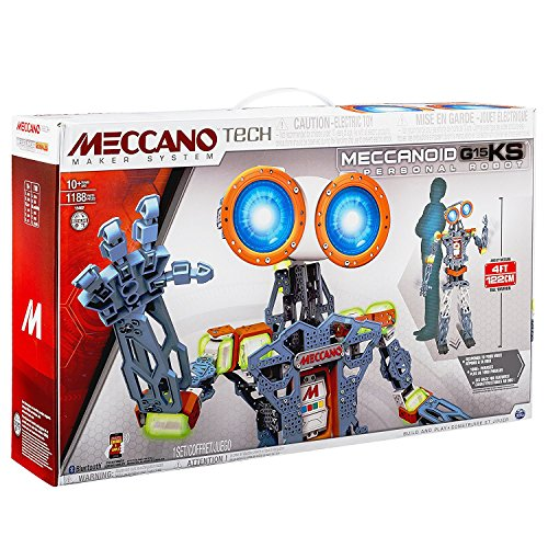 Meccano MeccaNoid G15 KS Personal Robot Android 1188 Piece Metal Building Set