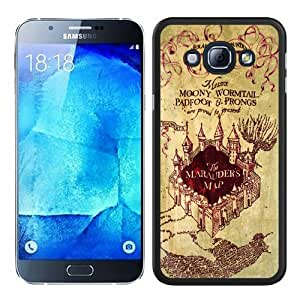 Samsung Galaxy A8 Case ,Harry Potter Marauders Map black Samsung Galaxy A8 Cover Fashionable And Unique Custom Designed Phone Case