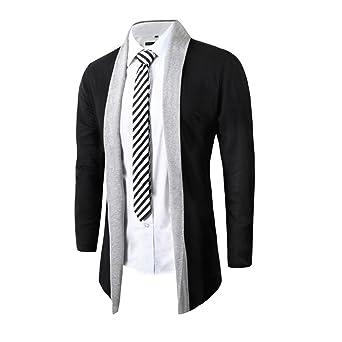 Cárdigan de hombres Elegante Moda Otoño invierno Delgado Manga larga Casual Suéteres Prendas de punto Camisa