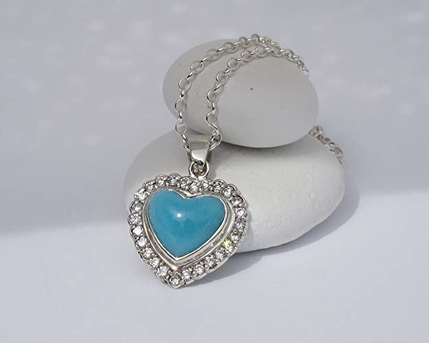 Amazon larimar pendant by larimarandsilver larimar heart larimar pendant by larimarandsilver larimar heart aaa larimar atlantis stone blue heart aloadofball Image collections