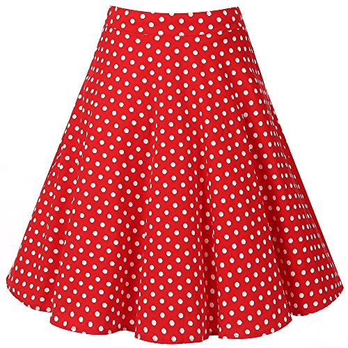 Halloween Skirt (Musever Women's Pleated Vintage Skirts Floral Print Casual Midi Skirt Style 6 XXL)