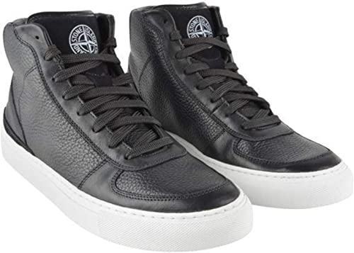 Mens Stone Island Leather HIGH TOP