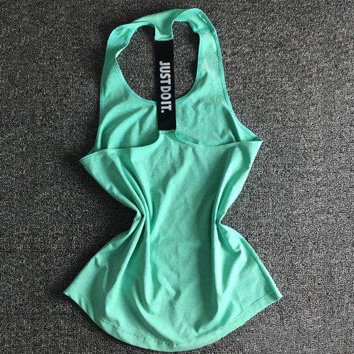 SGYHPL Frauen Yoga Top Gym Sport Weste Ärmellose Shirts Tanktops Sport Top Fitness Frauen Laufbekleidung Unterhemden M Grün