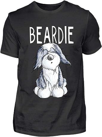 Cute Beardie I Bearded Collie - Camiseta para hombre Negro ...