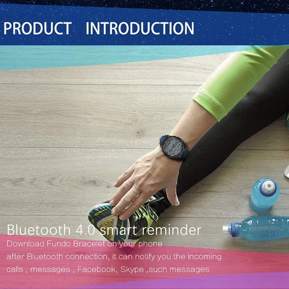 Digital Watch, Uomini Donne Pedometro, militare esterno, Orologi LED elettronica 50M retroilluminazione impermeabili per Android IOS. Blu Bianco