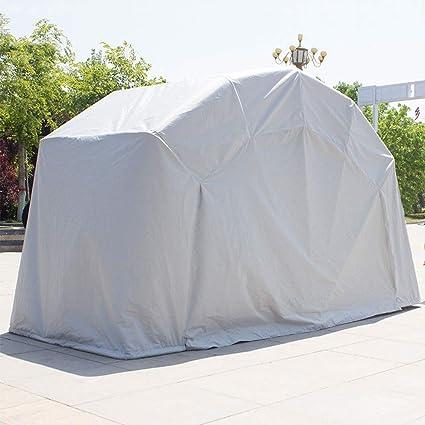 Cubierta Carpa plegable portátil cobertizo al aire libre Moto bicicletas con marco fuerte, bici de la motocicleta garaje techado 100% a prueba de agua de Sunproof Burglarproof, cubierta del coche simp: Amazon.es:
