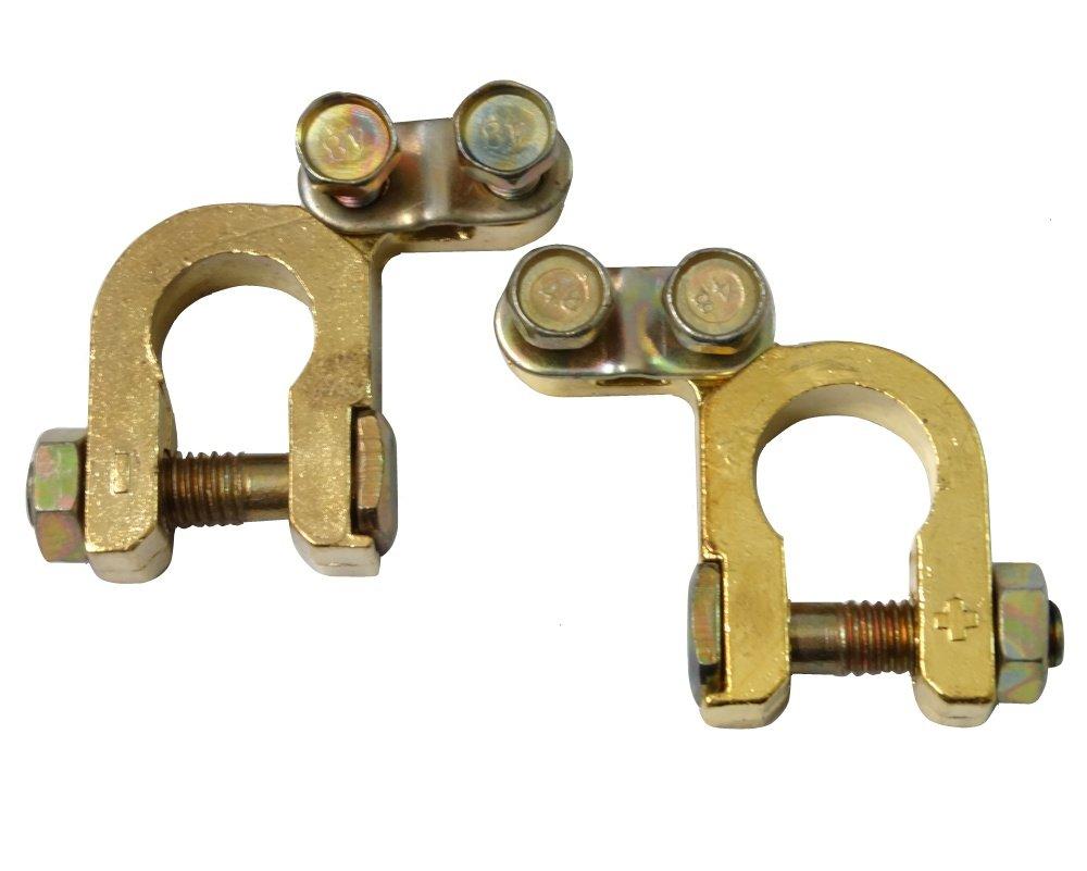 2x Terminales para bater/ía de coche auto veh/ículos C4439 AERZETIX
