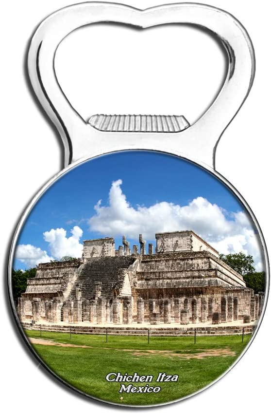 Weekino Mexico Chichen Itza Maya Fridge Magnet Bottle Opener Beer City Travel Souvenir Collection Strong Refrigerator Sticker