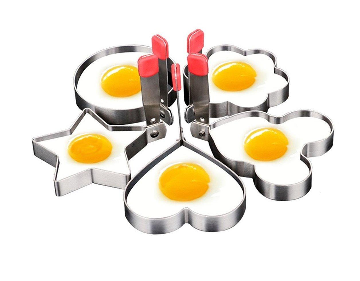 JV16 Egg Mold Ring Pancake Nonstick Stainless Steel Set of 5PCS by JV16