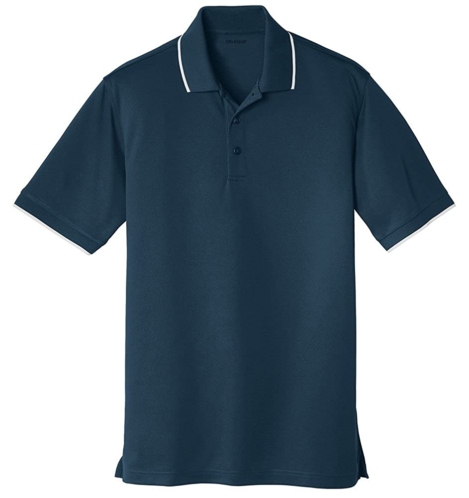 DRIEQUIP Mens Moisture Wicking Dry Zone Tipped Polo in Sizes XS-4XL